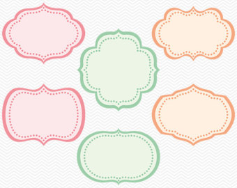 Shapes clipart printable banner #2