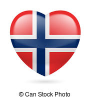 Norway clipart red heart Transparent of Illustration icon on