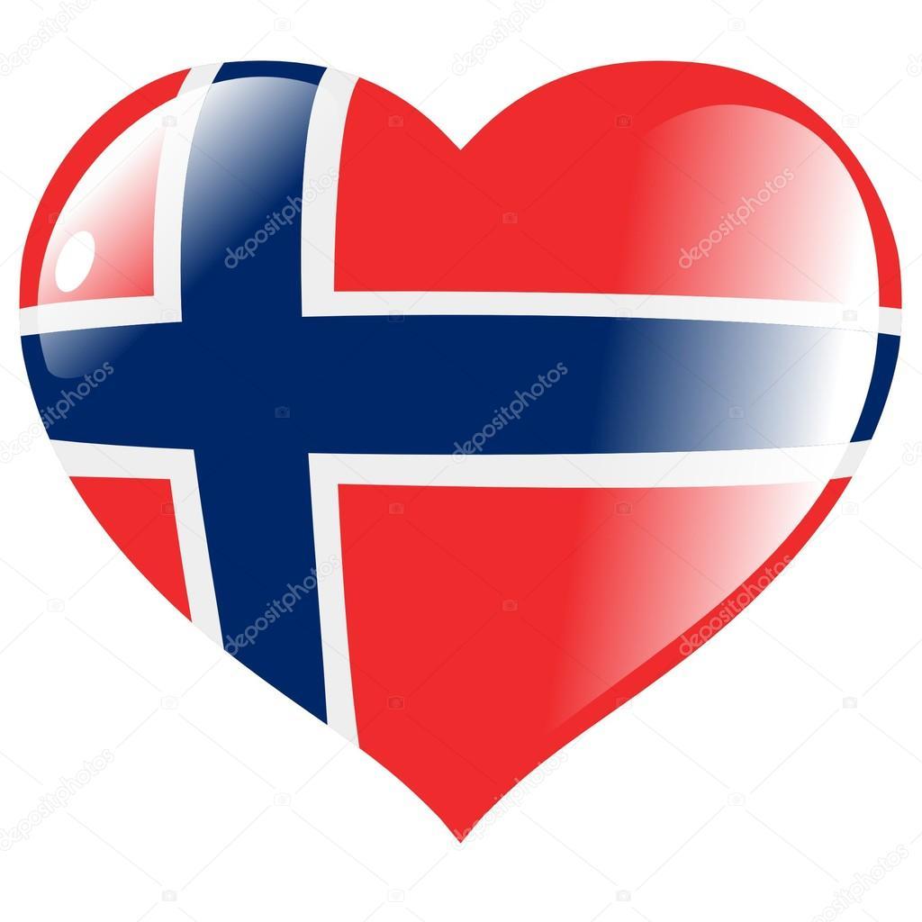 Norway clipart red heart Vector heart Vector in Stock