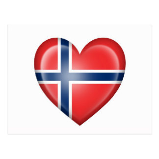 Norway clipart red heart Flag Postcard Heart White on