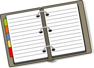 Notebook clipart Clip Notebook Tabbed Art Notebook