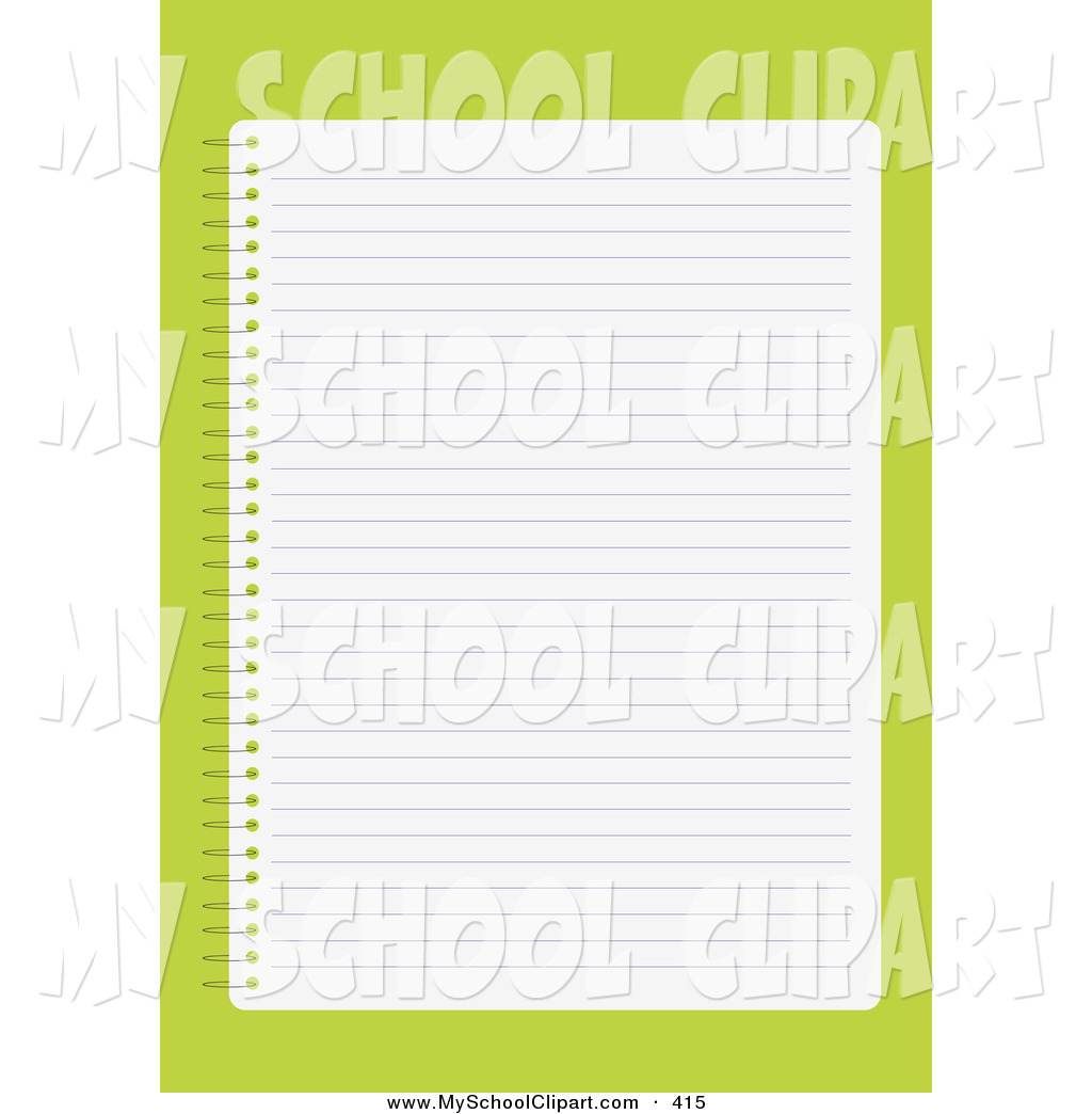 Notebook clipart background Lined over a Art in