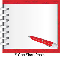 Paper clipart ballpen 510 clipart pen Red Vector
