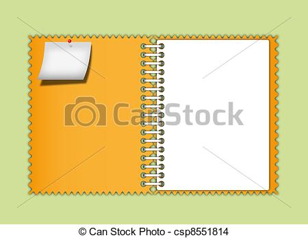 Notebook clipart border And  Drawing of Orange