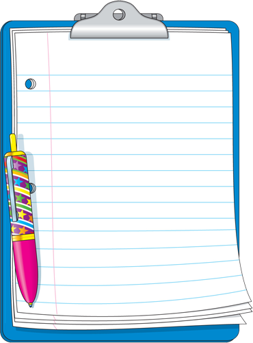 Notebook clipart border In article d ecole