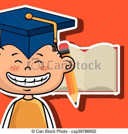 Notebook clipart boy Notebook illustration student pencil vector