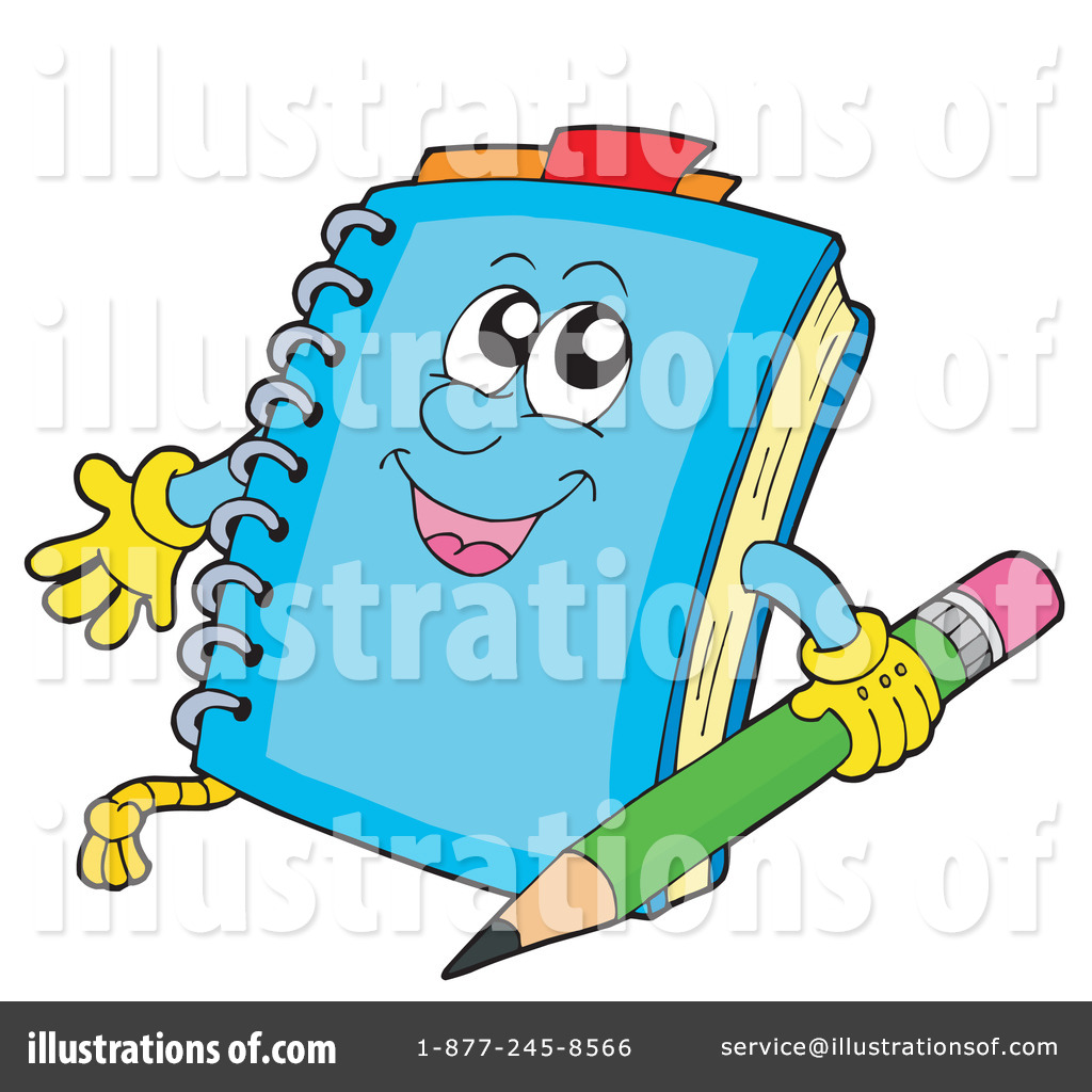 Notebook clipart cartoon Illustration #213405 #213405 by Clipart