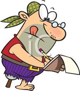 Notebook clipart cartoon In Royalty Writing Legged Peg