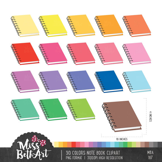 Notebook clipart colorful Clipart on  from 30