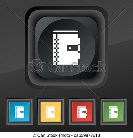 Notebook clipart five Five your symbol Vector symbol
