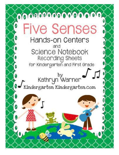 Notebook clipart five My Senses Big Unit Kindergarten