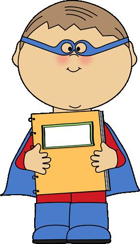 Boy clipart superhero Superhero clipart clip notebook Art