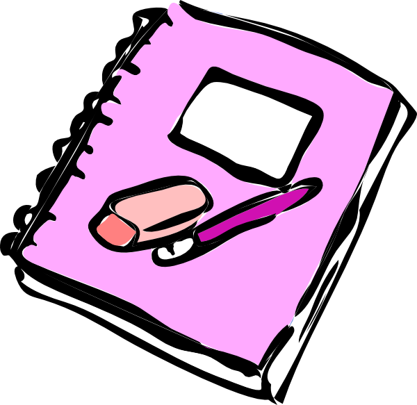 Notebook clipart free school At  Clip art royalty