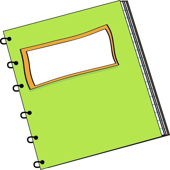 Cover clipart notebook #11