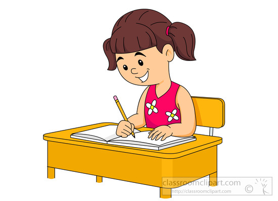 Desk clipart little Size: student operating Kb sitting