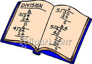 Notebook clipart kid math Clipart Problems Royalty Royalty Division