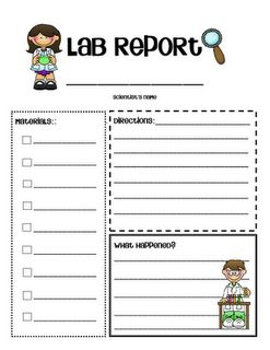 Notebook clipart lab report  best 194 Lab Pinterest