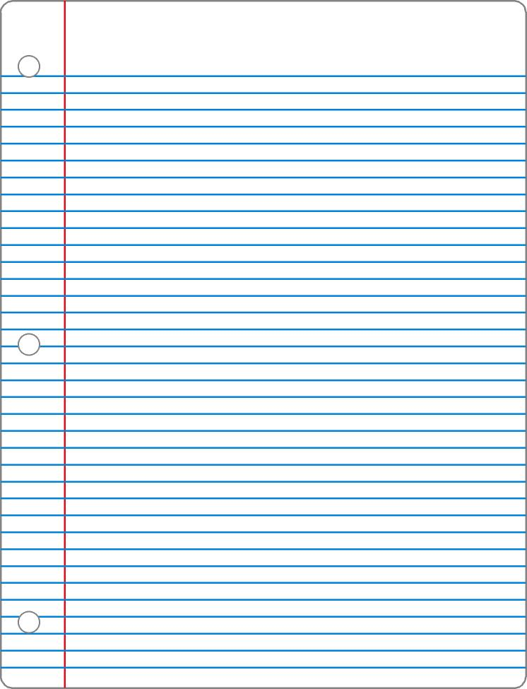 Notebook clipart lined paper Clipart Lined Out Paper more