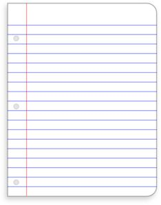 Notebook clipart lined paper Loose Leaf Free Clip use