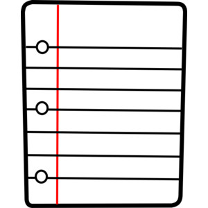 Notebook clipart lined paper Lined paper clipart notebook ClipartBarn