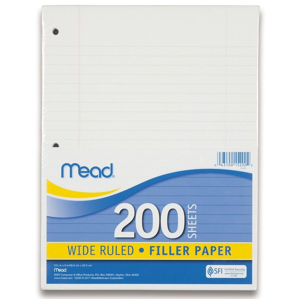 Paper clipart college ruled Loose com Amazon Filler Paper