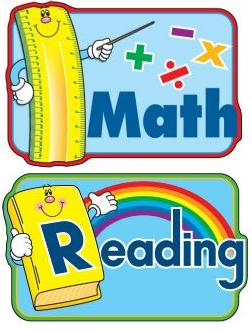 Notebook clipart math subject · Notebook Schedule Math Reading