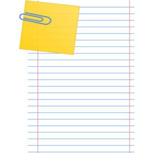 Notebook clipart note paper Clip Clip note  clip