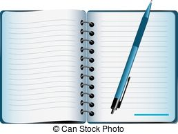 Pen clipart note book Vector legal EPS art pad