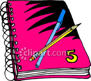 Notebook clipart notebook pencil Panda Writing  Clipart Free