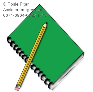 Notebook clipart notebook pencil Pencil of Spiral Pencil a