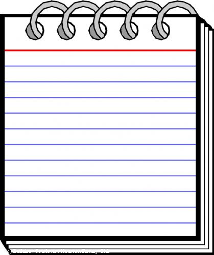 Notebook clipart notepad Clipart 2 clip Notepad kid