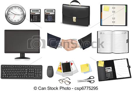 Notebook clipart office equipment And briefcase Vector briefcase calculator