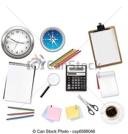 Notebook clipart office equipment Vector and and office Art