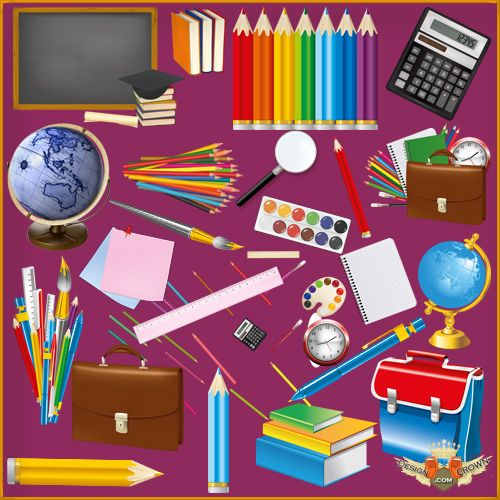 Notebook clipart office stationery School png calculators png pencils