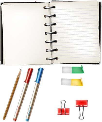Notebook clipart office stationery School ♥ (51) images CLIP