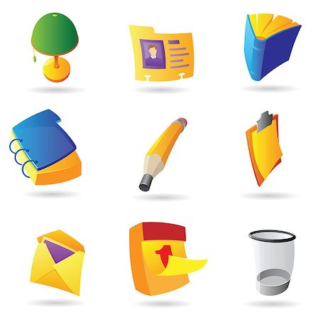 Notebook clipart office stationery Stationery clipart Masterfile for Vector