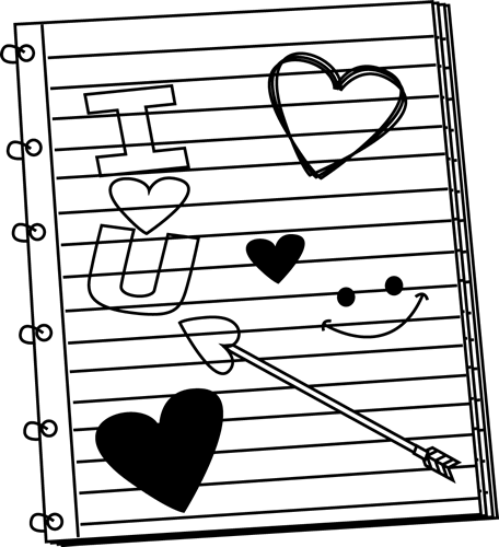 Notebook clipart outline Scribbles Black Day Art Notebook
