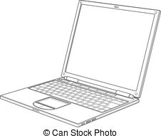 Notebook clipart outline Royalty  810  Laptop