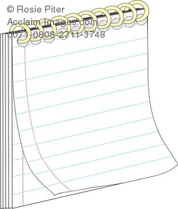 Paper clipart college ruled Clipart and images spiral and