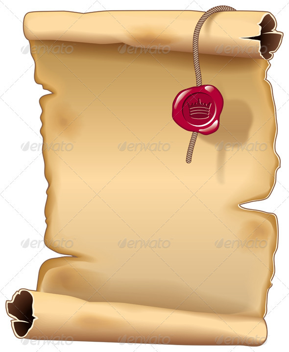 Drawn scroll  Ancient Parchment Scroll