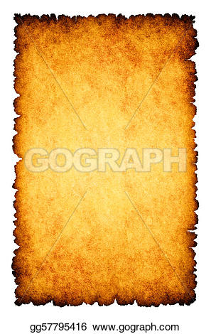 Notebook clipart parchment On Rough burnt  background