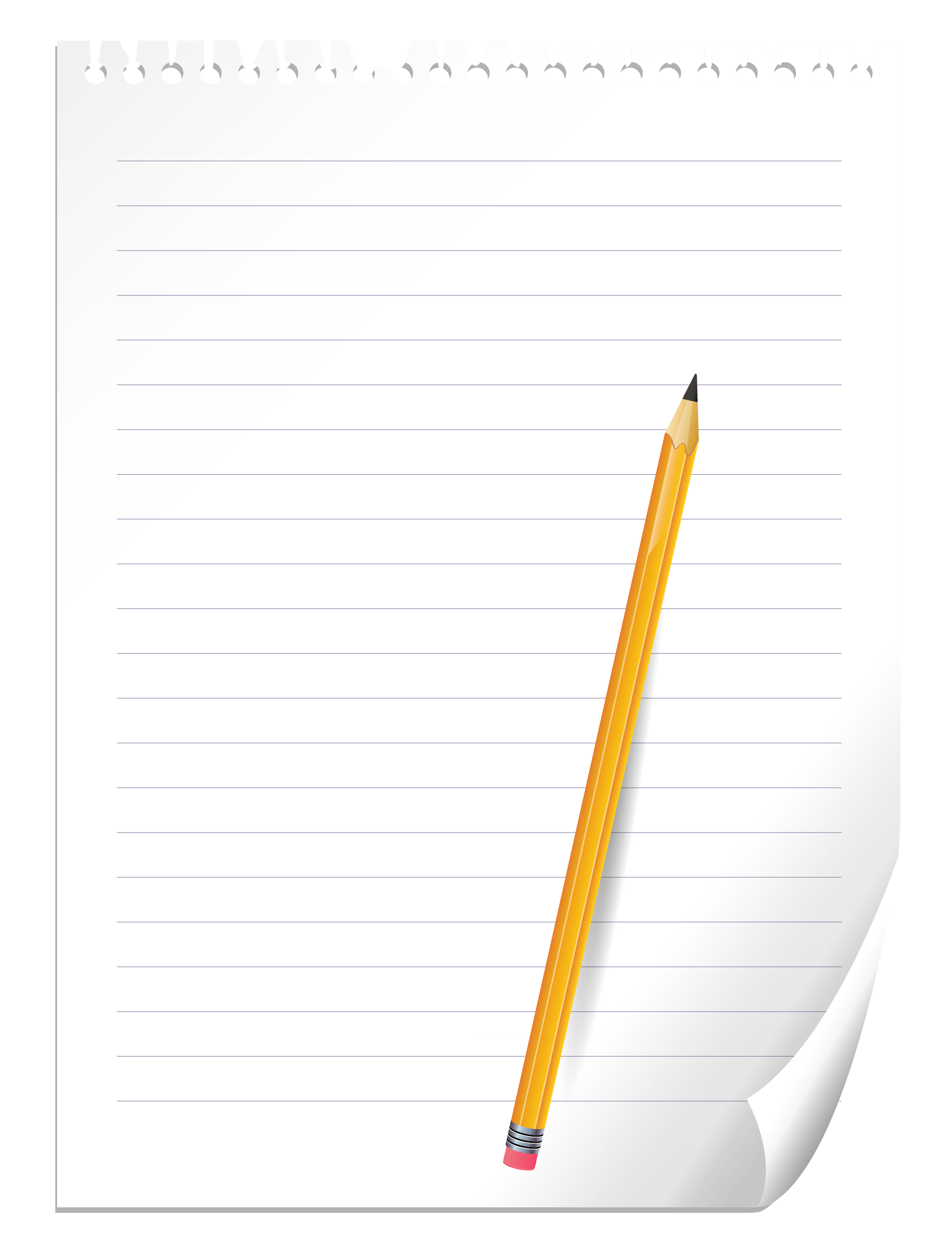 Notebook clipart piece paper  PNG and Clipart Pencil