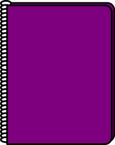 Notebook clipart purple Clip at Clip online Notebook