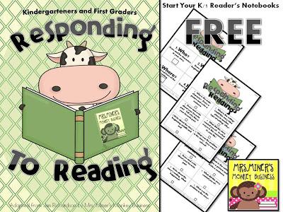 Notebook clipart reader Notebook FREEBIE! Readers' Readers' Notebook