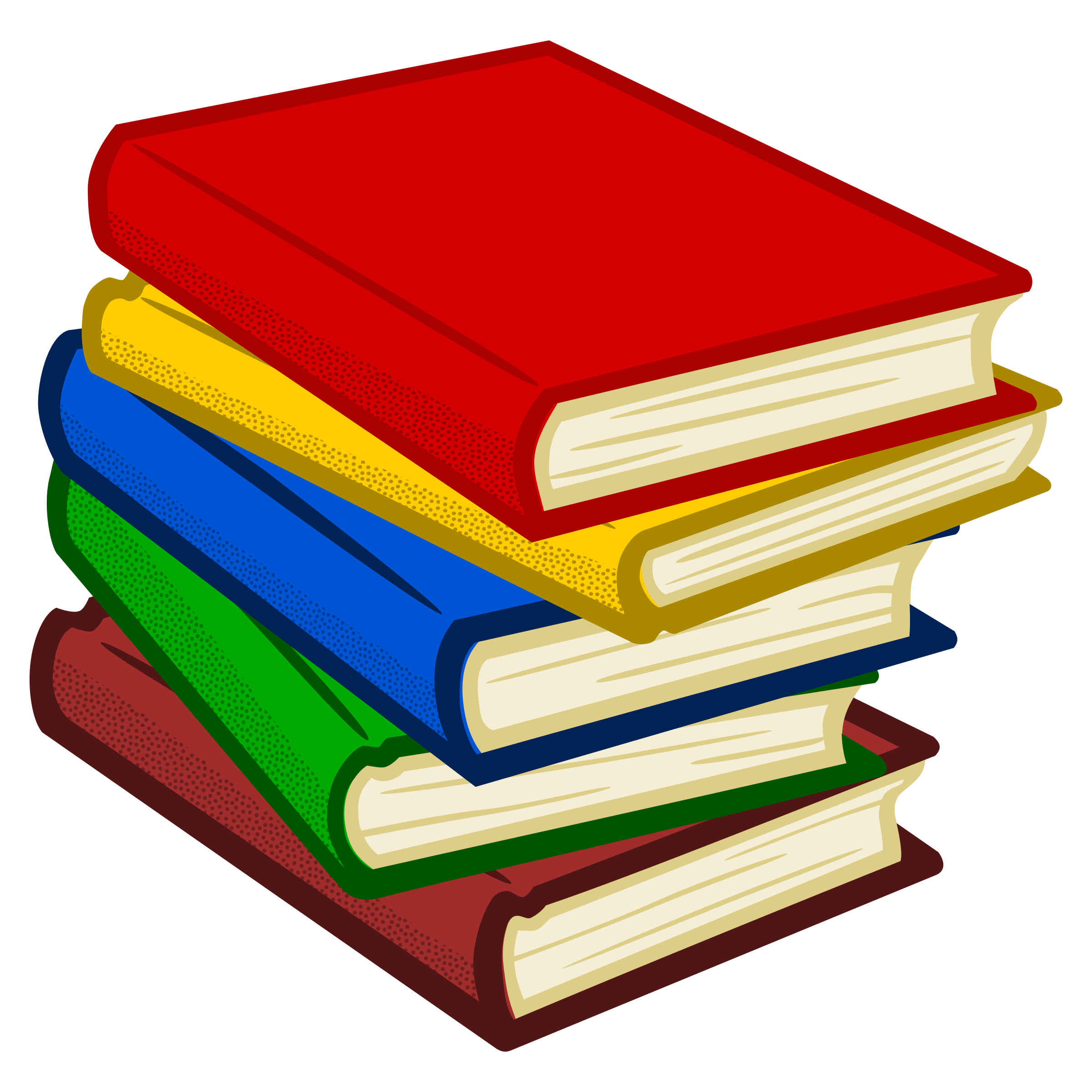 Notebook clipart red book Of books coloured Clipart Clipart