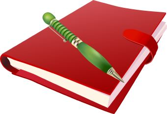 Notebook clipart red book With art Images Pen Clipart