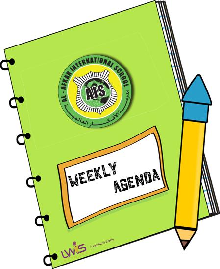 Notebook clipart school agenda Agenda (67+) clipart weekly School