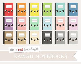 Notebook clipart school material Clip kawaii Cute Office Design