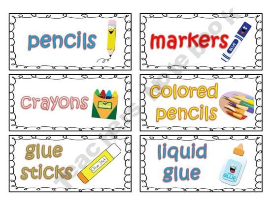 Notebook clipart school material Labels Teacher at organizing on