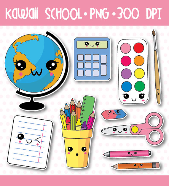 Notebook clipart school material Clipart supplies art clip school